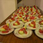 Laying Up Supper – Starters (Melon & Le Legue Ham)