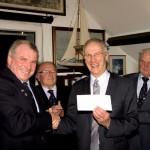 L-R: Ray Redelinghuys (Commodore, RCIYC), Buz White (RNLI), Edward Fattorini (CIAS), Ian Larby (CIAS), Capt. Peter Gill (RNLI)