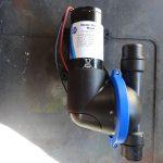 Unused, as new, Jabsco self-priming diaphragm waste pump 24 volt d.c. (£163.79 ex VAT from Jabscoshop.com)